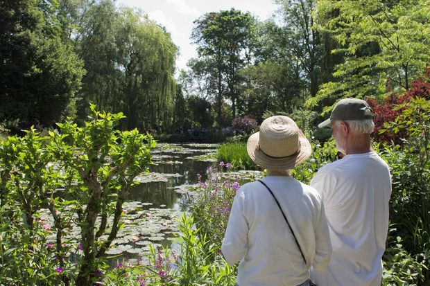 Les jardins de Claude Monet à Giverny.