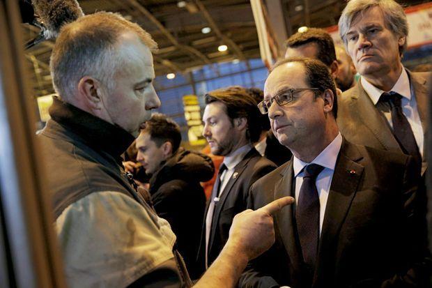François Hollande interpellé au salon de l'agriculture