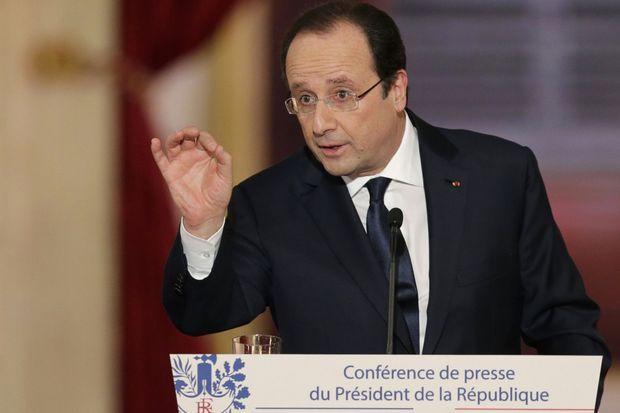 François Hollande mardi à l'Elysée.