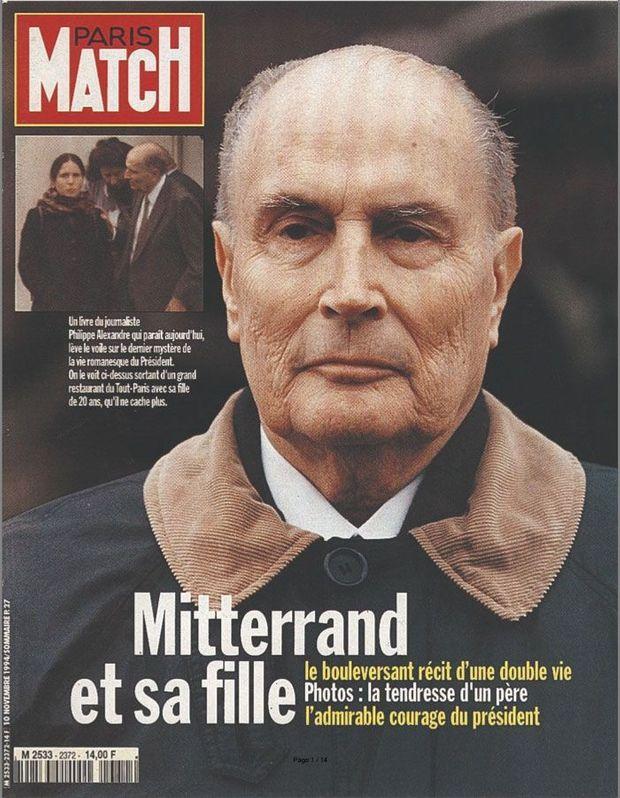 La couverture 2372 de Paris Match révélant l'existence de Mazarine Pingeot, la fille de François Mitterrand.
