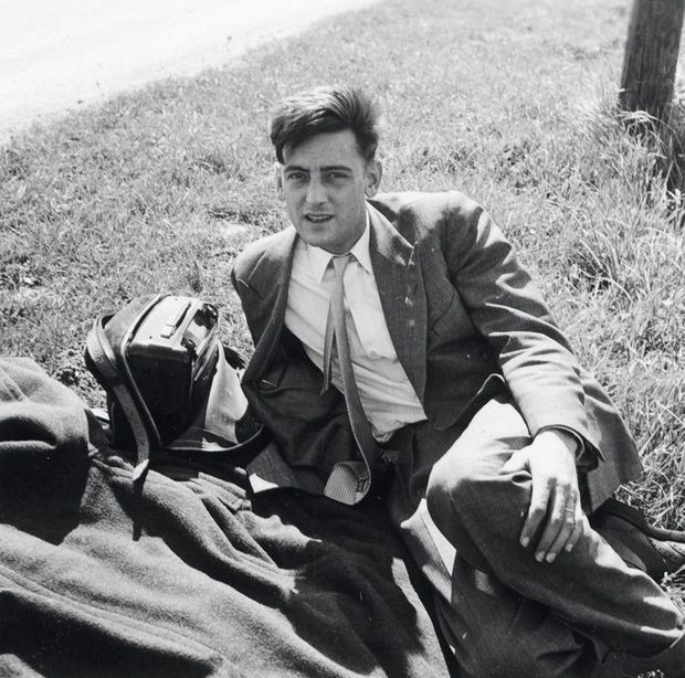 Franquin en mai 1952, cinq ans avant la naissance de Gaston Lagaffe.