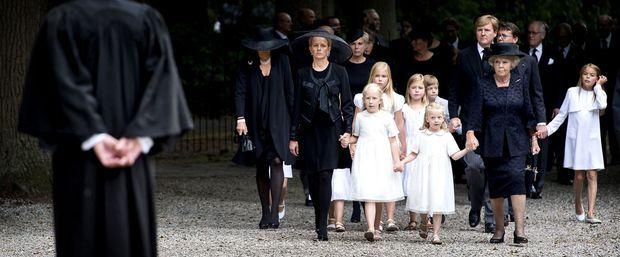L'enterrement du prince Friso, le 19 août 2013.