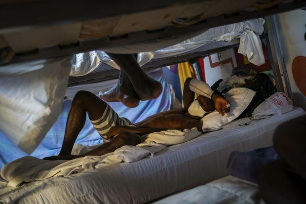 Un migrant accueilli dans la mission chrétienne de Fuerteventura.