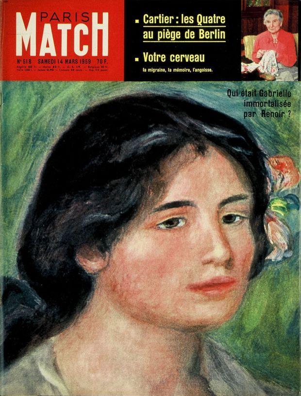 Gabrielle par Renoir, en couverture de Paris Match n°518, 14 mars 1959
