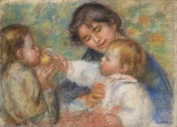 """""""Gabrielle, Jean et une petite fille"""", Auguste Renoir, 1895 (Collection Léone Cettolin Dauberville)"""