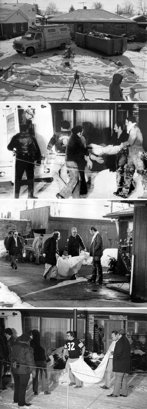 """""""Sous la maison de l'ogre, toute la terre est passée au crible"""" - Paris Match n°1547, 19 janvier 1979. Au total, 26 des 33 victimes revendiquées de John Wayne Gacy ont été retrouvées sous sa maison du 8213 West Summerdale Avenue, à Norwood Park, Cook County, dans la banlieue de Chicago, Illinois."""
