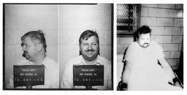 """""""Après ses aveux, John Gacy avait tenté de se suicider : on l'a attaché avec des lanières en cuir sur on lit à l'hôpital de la prison."""" - Paris Match n°1547, 19 janvier 1979."""