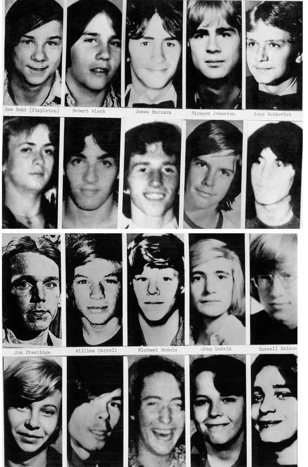 Quelques-unes des 33 victimes revendiquées de John Wayne Gacy.