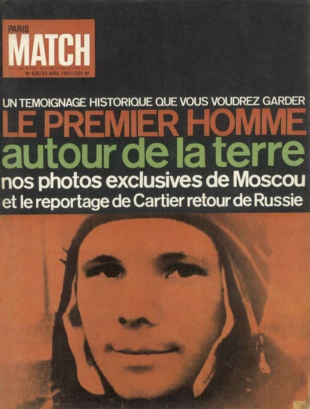 Le premier homme autour de la Terre, en couverture de Paris Match n°628, 22 avril 1961