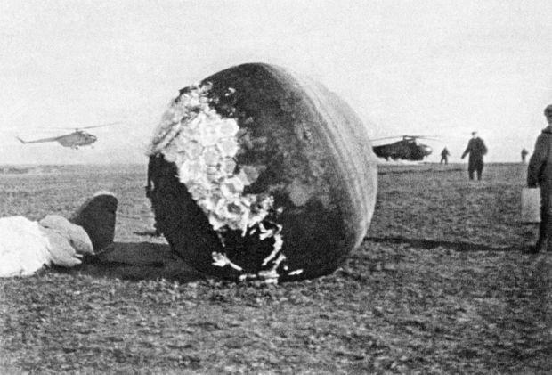 Le module de descente de Vostok, le 12 avril 1961.