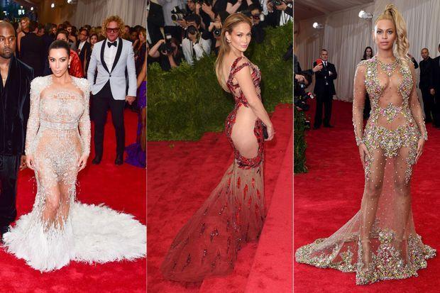 Kim Kardashian, Jennifer Lopez et Beyoncé au Gala du Met.