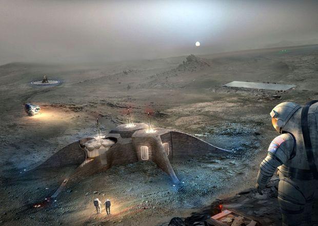 L'habitat imaginé par l'équipe Gamma.