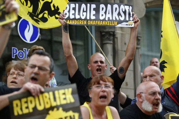L'extrême-droite flamande s'est mobilisée à Gand, mercredi.