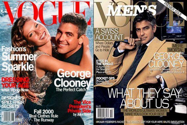 """George Clooney en couverture de """"Vogue"""" et """"Men's Vogue"""""""