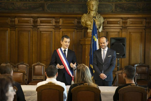 Gérald Darmanin célèbre un baptême républicain, le 30 novembre, à Tourcoing.