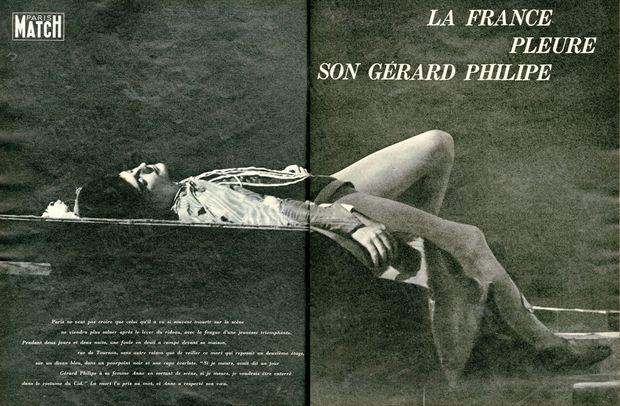 """""""Si je meurs, avait dit un jour Gérard Philipe à sa femme Anne en sortant de scène, si je meurs, je voudrais être enterré dans le costume du Cid."""" - Paris Match n°556, 5 décembre 1959."""
