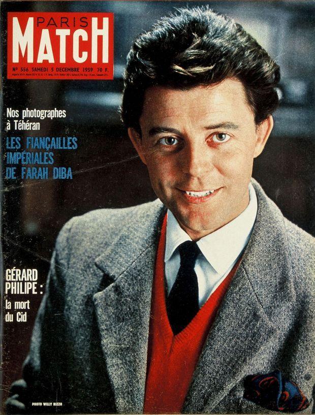 """""""Gérard Philipe : la mort du Cid"""" - Paris Match n°556, 5 décembre 1959."""
