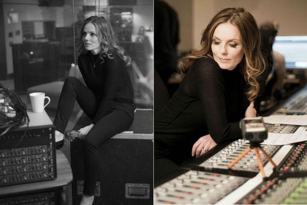 Geri Halliwell en studio.