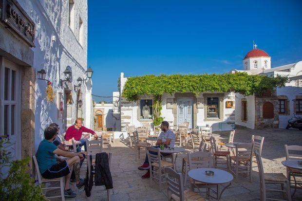 Un petit restaurant situé au coeur de Patmos.