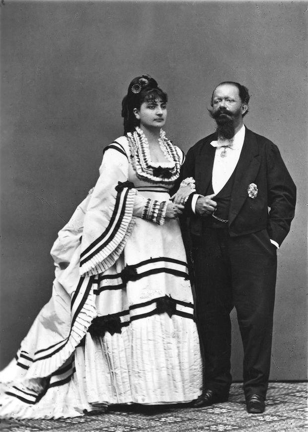 Le roi Victor-Emmanuel II avec sa deuxième femme Rosa Vercellana