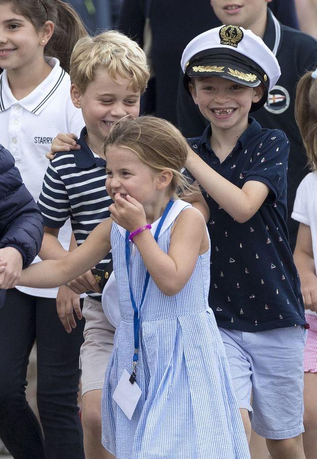 George et Charlotte de Cambridge à Cowes le 8 août 2019