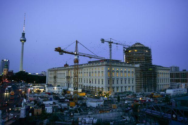 Le chantier de reconstruction du château de Berlin, le 21 août 2019