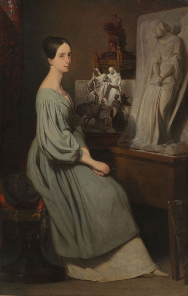 La princesse Marie d'Orléans dans son atelier, par Ary Scheffer