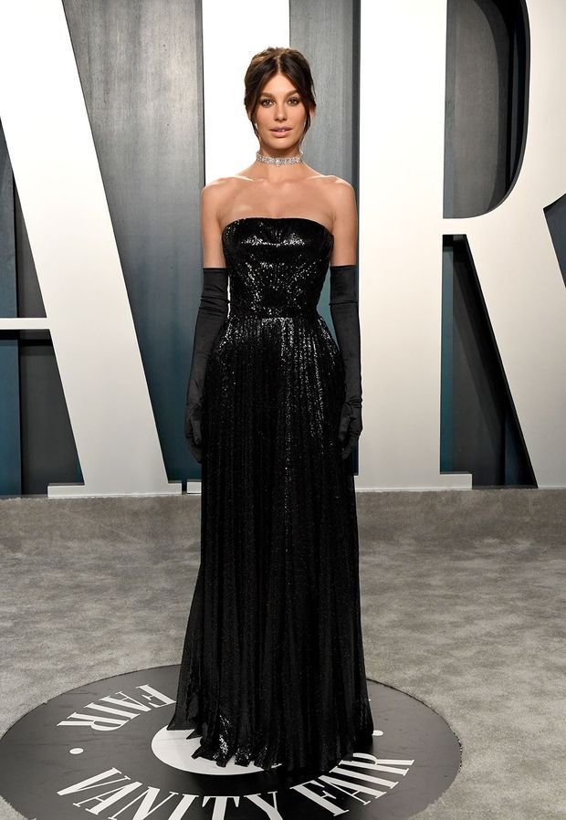 Camila Morrone at the after-party of the Oscars on February 9, 2020