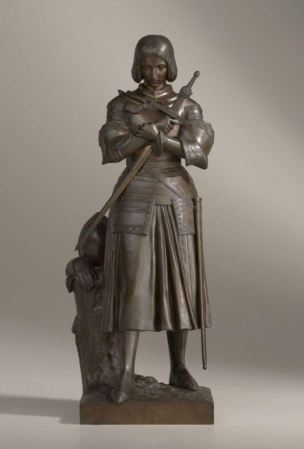 Réplique en bronze de la Jeanne d'Arc en marbre de la princesse Marie d'Orléans