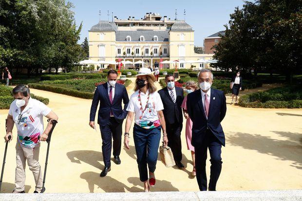 La princesse Elena d'Espagne au palais des ducs de Pastrana à Madrid, le 24 août 2021