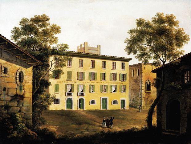 La maison natale de Napoléon Bonaparte à Ajaccio (oeuvre du XIXe siècle)