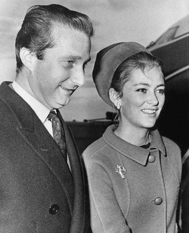 Le prince Albert de Belgique et la princesse Paola, le 25 octobre 1966