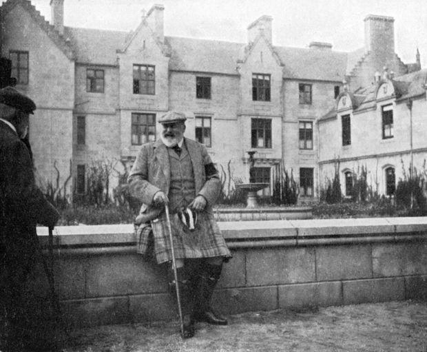 Le roi Edward VII à Balmoral, en 1908