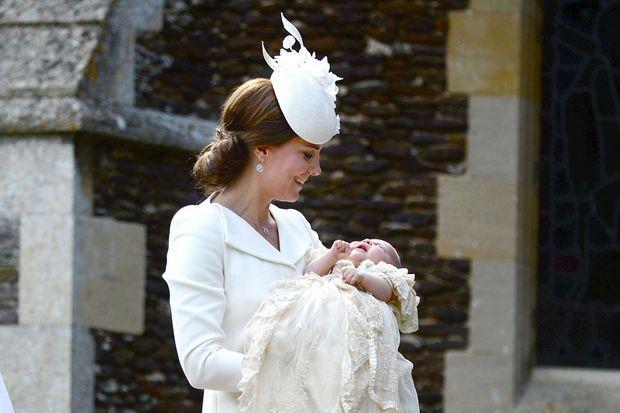 Baptême de la princesse Charlotte de Cambridge, fille du prince William et de Kate Middleton, le 5 juillet 2015