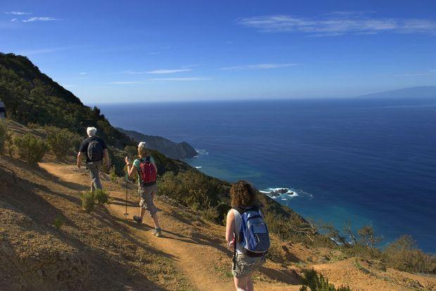 Randonnée sur l'île de Gomera, dans les Canaries.