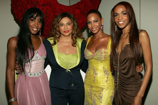 Kelly Rowland, Tina Knowles, Beyoncé et Michelle Williams en 2005