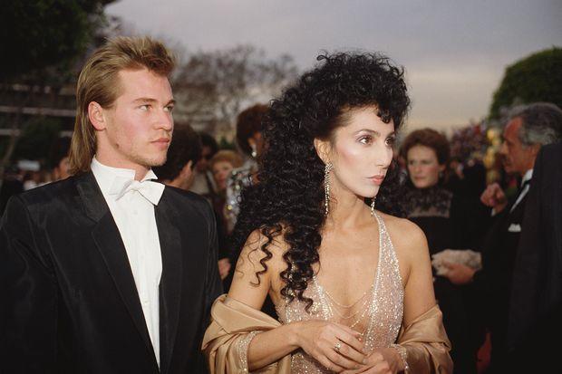 Val Kilmer et Cher aux Oscars en avril 1984