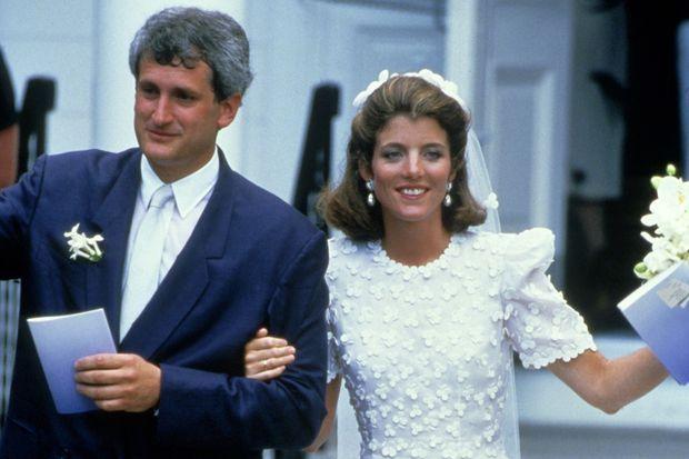 Caroline Kennedy et Edwin Schlossberg le jour de leur mariage à Hyannis Port en juillet 1986