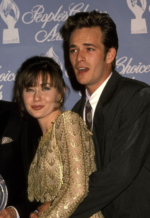 Shannen Doherty et Luke Perry aux People's Choice Awards en mars 1992