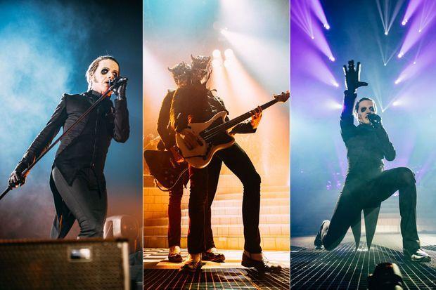 Le groupe Ghost en concert à Paris jeudi.