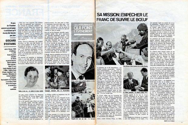 « Ces personnages qui font l'événement : Giscard d'Estaing » - Paris Match n°669, 2 février 1962