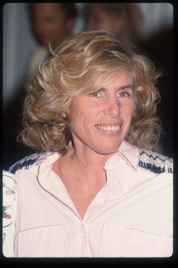 Elizabeth Glaser lors d'un gala de l'AmFAR à Los Angeles, en février 1994. L'épouse de Paul Michael Glaser décédera en décembre 1994.
