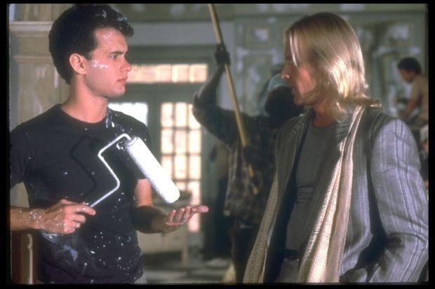 """Alexander Godunov dans le film """"Une baraque à tout casser"""", face à Tom Hanks en 1986."""