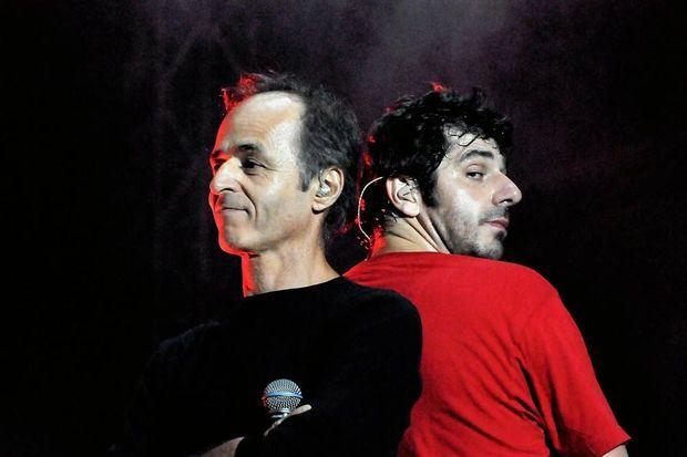 Juillet 2001. A Narbonne, avec Patrick Fiori, pour les vendanges du coeur.