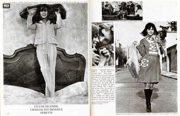 « En une seconde, Chantal est devenue vedette » - Paris Match n°869, daté du 4 décembre 1965