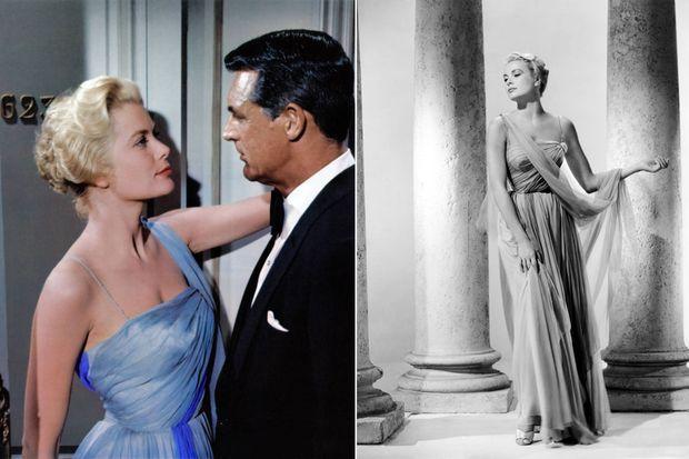"""La robe de Grace Kelly dans """"La Main au Collet"""" qui a inspirée celle de Lady Di"""