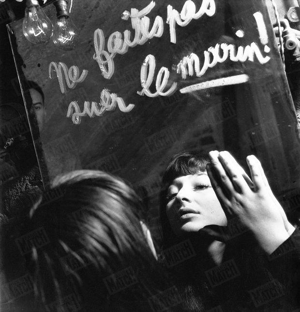 Juliette Gréco au cabaret de la Rose rouge à Saint-Germain-des-Prés, au début des années 1950.