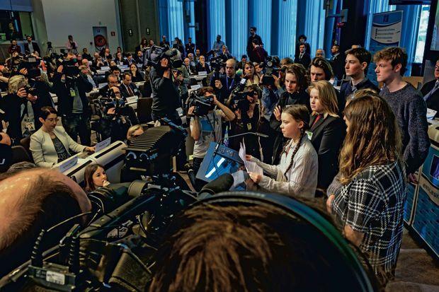Greta Thunberg demande aux décideurs de prendre enfin au sérieux les recommandations des scientifiques. Au Comité économique et social européen, Bruxelles, le 21 février.