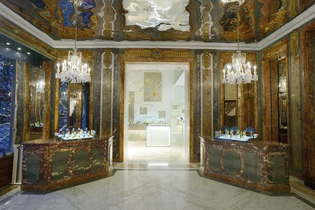 La boutique Guerlain revisitée par Peter Marino.
