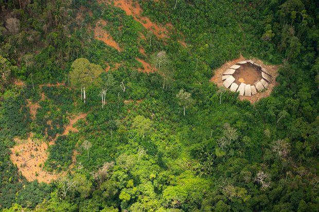 Vue aérienne de la tribu